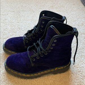 Vintage Purple Velvet Dr. Martens